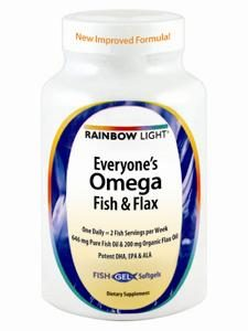 Everyone's Omega Fish & Flax  60 softgels by Rainbow Light Nutrition