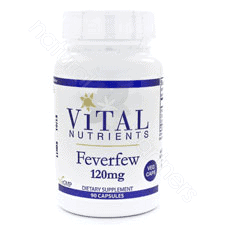 Feverfew 120mg 0.4-0.7% 90c by Vital Nutrients