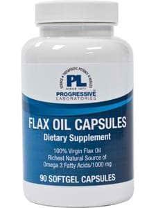 Flax Oil Capsules 90sg by Progressive Labs