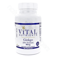Gingko Ext. 24% 6% 80mg 90c by Vital Nutrients