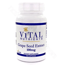 Grape Seed Extract 100mg 90c by Vital Nutrients