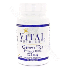 Green Tea Ext 80% 275mg 60c by Vital Nutrients