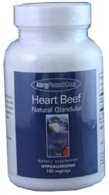 Heart Beef Natural Glandular 100c by Allergy Research Group