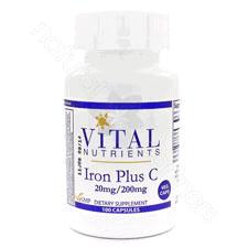 Iron Plus C 100c by Vital Nutrients