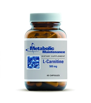 L-Carnitine 500 mg - 60 caps by Metabolic Maintenance