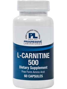 L-Carnitine 500mg 60c by Progressive Labs