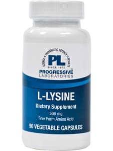 L-Lysine 500mg 90c by Progressive Labs