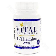 L-Theanine 200mg 60c by Vital Nutrients