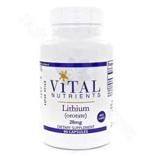 Lithium (orotate) 20mg 90c by Vital Nutrients