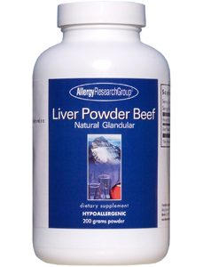 Liver Powder Beef 200 g by Allergy Research Group