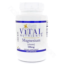 Magnesium Citrate 150mg 100c by Vital Nutrients