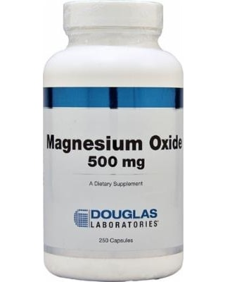 Magnesium Oxide 500mg 250c by Douglas Laboratories
