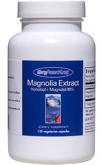 Magnolia Extract Honokiol + Magnolol 90% 120c by Allergy Research Group
