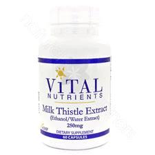 Milk Thistle 80% Silymarin 60c by Vital Nutrients