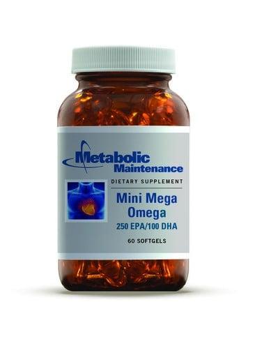 Mini Mega Omega  250 EPA/100 DHA - 60 softgels by Metabolic Maintenance