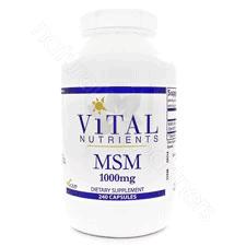 MSM 1000mg 240c by Vital Nutrients