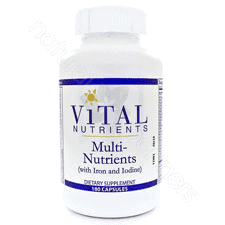 Multi Nutrients w/Iron and Iodine 180c by Vital Nutrients