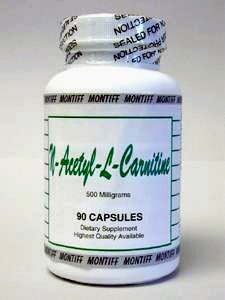 N-Acetyl-L-Carnitine 500 mg 90 caps by Montiff