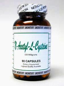 N-Acetyl-L-Cysteine 500 mg 90 caps by Montiff
