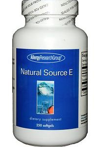 Natural Source E 400IU 250sg by Allergy Research Group
