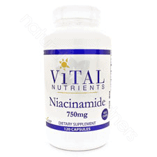 Niacinamide 750mg 120c by Vital Nutrients