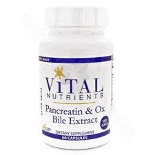 Pancreatic & Ox Bile 60c by Vital Nutrients