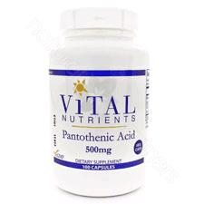 Pantothenic Acid 500mg 100c by Vital Nutrients