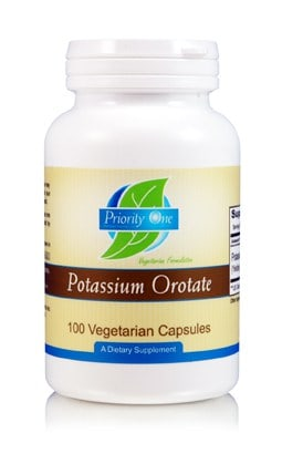 Potassium Orotate 500mg 100c by Priority One