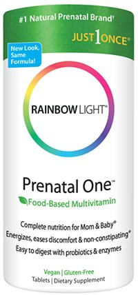 Prenatal One Multivitamin 90 tabs by Rainbow Light Nutrition