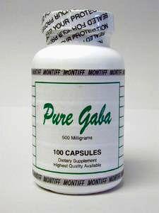 Pure Gaba 500 mg 100 caps by Montiff