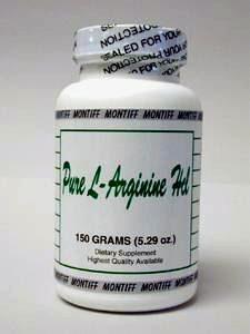 Pure L-Arginine HCl 150 gms by Montiff