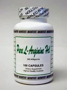 Pure L-Arginine HCl 500 mg 100 caps by Montiff