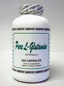Pure L-Glutamine 500 mg 250 caps by Montiff