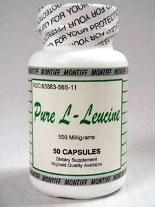 Pure L-Leucine 500 mg 50 caps by Montiff