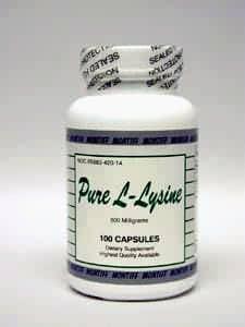 Pure L-Lysine 500 mg 100 caps by Montiff