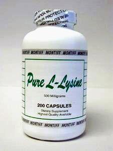 Pure L-Lysine 500 mg 200 caps by Montiff