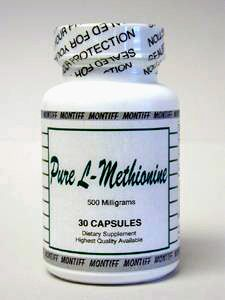 Pure L-Methionine 500 mg 30 caps by Montiff
