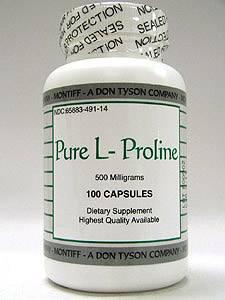 Pure L-Proline 500 mg 100 caps by Montiff