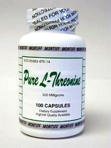 Pure L-Threonine 500 mg 100 caps by Montiff