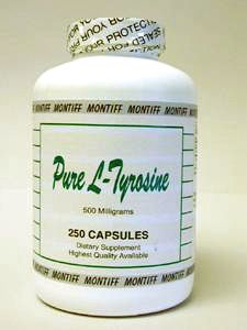 Pure L-Tyrosine 500 mg 250 caps by Montiff