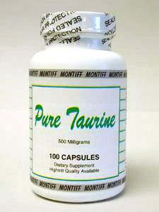 Pure Taurine 500 mg 100 caps by Montiff