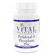 Pyridoxal-5-Phosphate 50mg 90c by Vital Nutrients