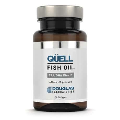 Quell Fish Oil EPA/DHA plus Vitamin D 30sg by Douglas Laboratories