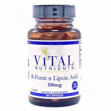 R-Lipoic Acid 100mg VEG 60c (F) by Vital Nutrients