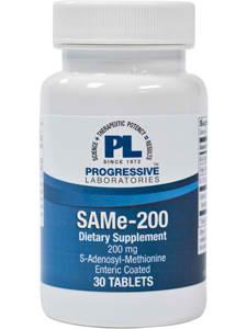 SAMe 200mg 30t by Progressive Labs