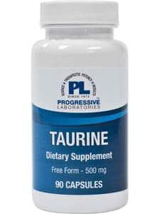 Taurine 500mg 90c by Progressive Labs