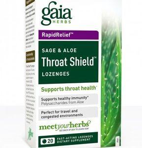 Throat Shield Lozenges 20ct box by Gaia Herbs