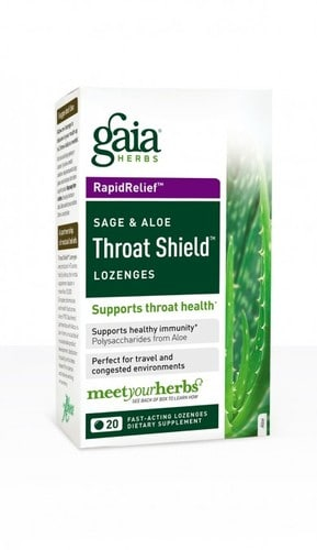 Throat Shield Lozenges 20ct box by Gaia Herbs