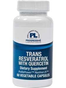 Trans-Resveratrol w/ Quercetin 60vcaps by Progressive Labs