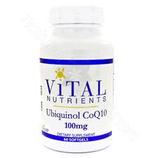 Ubiquinol CoQ10 100mg 60sg by Vital Nutrients